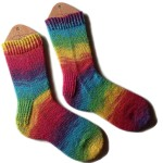 Rainbow Sparkle Socks